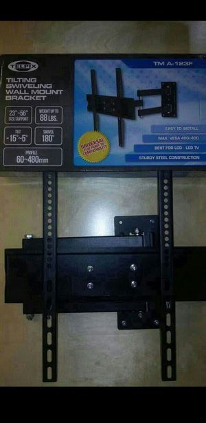 """Tv Wall Mount Universal Full Motion Very Strong Size Support 23"""" to 56"""" Swivel 180° Tilt 15° 88 Lbs Max Load Arm extends 60~480mm Brand New In Box for Sale in Los Nietos, CA"""