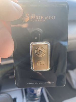 10 gram bar from The Perth Minth of Australia for Sale in Washington, DC