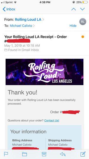 Rolling Loud 2019 GA for Sale in Inglewood, CA
