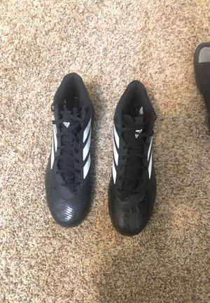 Size 11 Black Adidas football cleats for Sale in Glendale, AZ