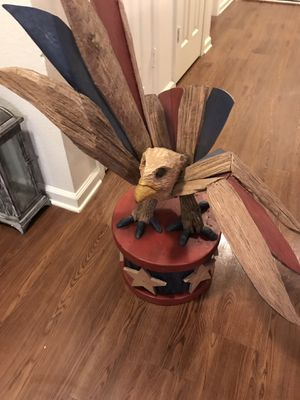 Large wooden eagle. Great piece and hand made . Thinning out my residence. for Sale in Fort Campbell, KY