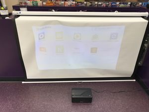 Brookstone projector & Elite Screens Projector Screen Bundle Deal!! for Sale in Everett, WA