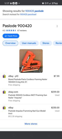 Pass load Cordless Nailer for Sale in Holly Hill, FL