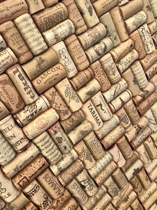 Handmade Wine Cork Bulletin Board in Solid Wood Frame