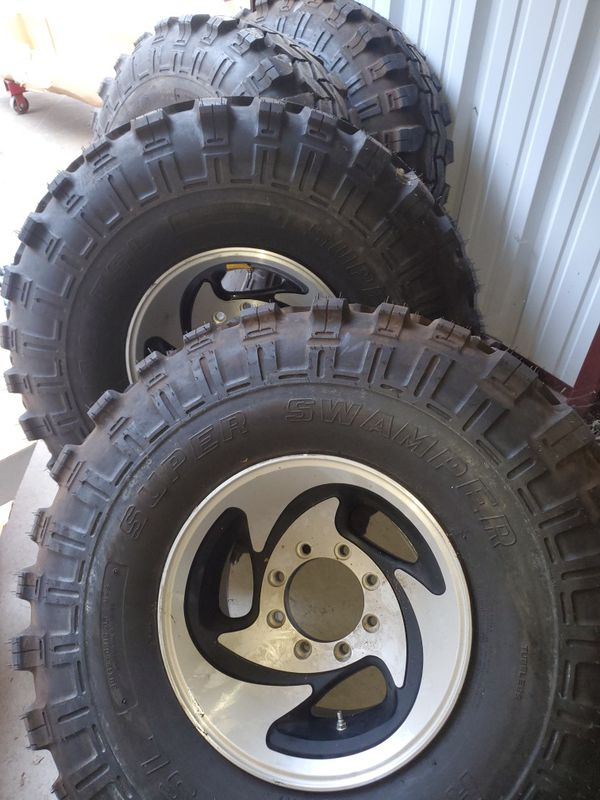 Set of four 38x15.50R16.50 super swampers