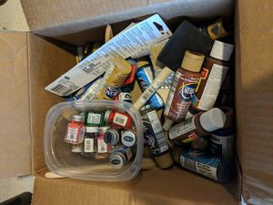 Box of paints and brushes for Sale in Austin, TX