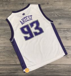 VINTAGE REEBOK SACRAMENTO KINGS RON ARTEST JERSEY LARGE L YOUTH WHITE PACERS NBA for Sale in Los Angeles,  CA