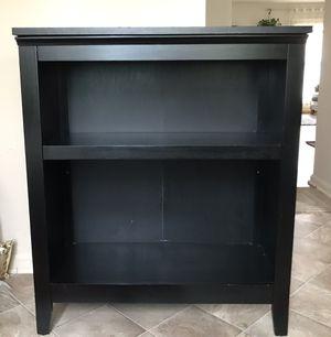 Black wood storage bookshelf for Sale in Centreville, VA
