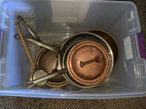 Copper Pots 6 total for Sale in San Diego, CA