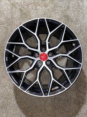 """1 Vossen HF2 20x10.5 5x120 Rims Wheels 20"""" Silver Black Red for Sale in Willow Springs, IL"""