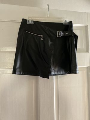 Forever21 black leather skirt for Sale in Wake Forest, NC