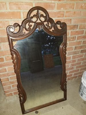 Antique real wood wall hanging mirror for Sale in Mechanicsville, VA