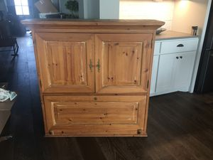 Wall hanging secretary desk. 100% pine. for Sale in Katy, TX