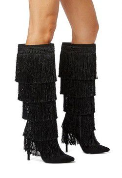Rhonda Fringe Stilettos Boots Size 7 for Sale in Tampa, FL