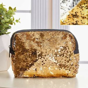 Reversible Gold silver Sequin Cosmetic Bag for Sale in GRANT VLKRIA, FL