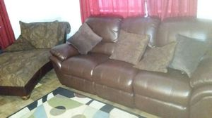Brown couch and chase reclining for Sale in Washington, DC