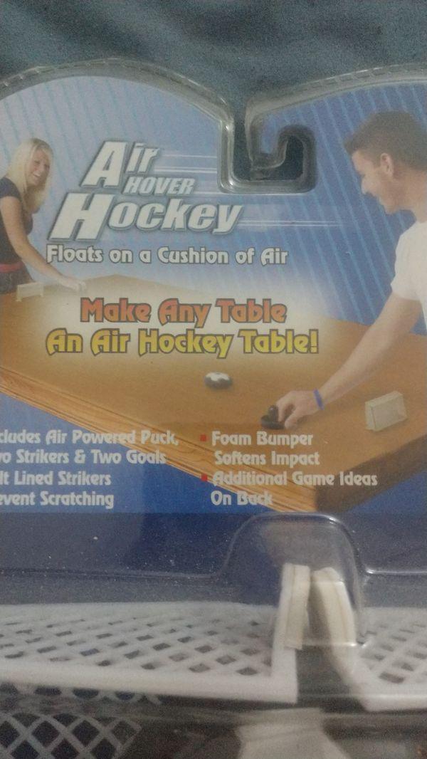 Air hover hockey, make any table an air hockey table, brand new