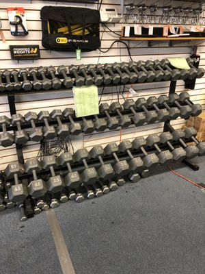 New hex dumbbells $1.10 per lb for Sale in Renton, WA