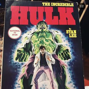 Vintage First printing of The Incredible Hulk fireside book for Sale in Tacoma, WA
