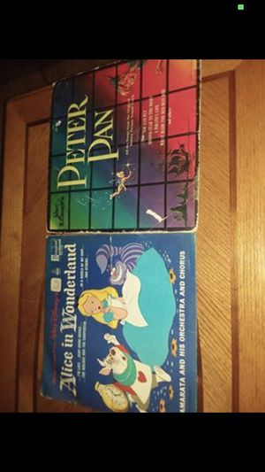 Vintage Walt Disney Alice and wonderland and Peter Pan records for Sale in Springfield, SC