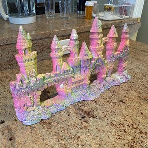 Colorful castle decoration for fish tanks, can be used to decorate elsewhere too. for Sale in Philadelphia, PA