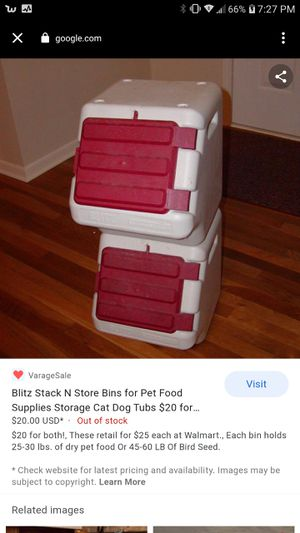 Pet food container for Sale in San Diego, CA