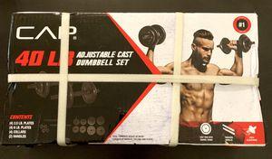 CAP 40lb Adjustable Cast Iron Dumbbell Set for Sale in Chandler, AZ