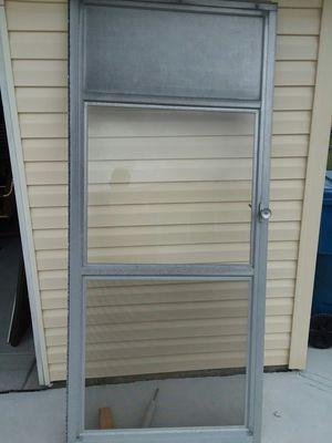 """Aluminum storm door 36 """" for Sale in Parma, OH"""