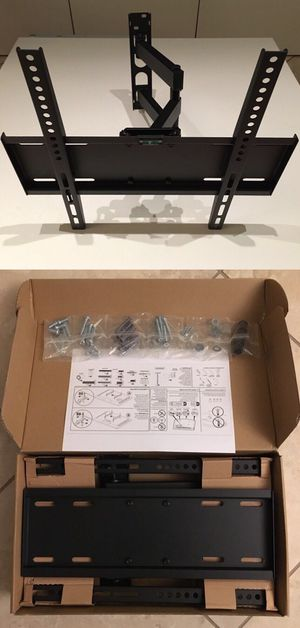 New in box universal 22 to 55 inch swivel extending full motion tv television wall mount bracket single arm for Sale in West Covina, CA
