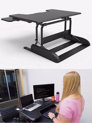 "New in box 36"" wide Logix Desk LDCX3604B Logix Desk height adjustable stand up standing improve posture desk desktop laptop Black or White color reta for Sale in Covina, CA"