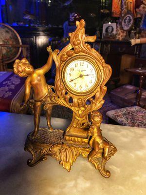 Antique Vintage Cherub Angel Brass Clock for Sale in Fort Lauderdale, FL