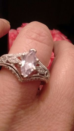 Beautiful sterling silver 925 Marquis engagement ring size 8 New for Sale in North Las Vegas, NV