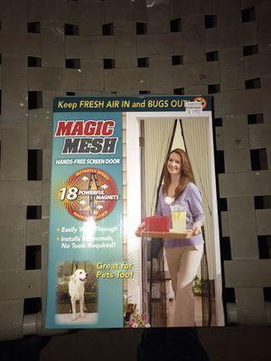 Magic mesh hand free screen door for Sale in Norco, CA