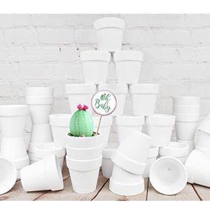37 Pcs White Terra Cotta Pots 2.5 inch Small Succulent Pots White Ceramic Pots White for Sale in Winston-Salem, NC