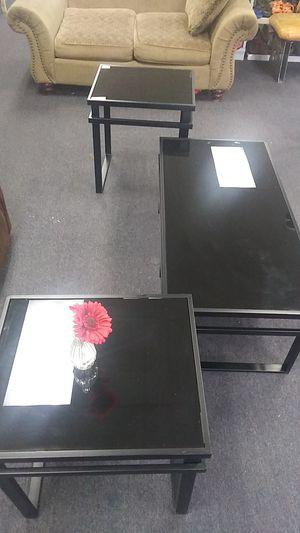 Tables ....black glass for Sale in Glen Raven, NC
