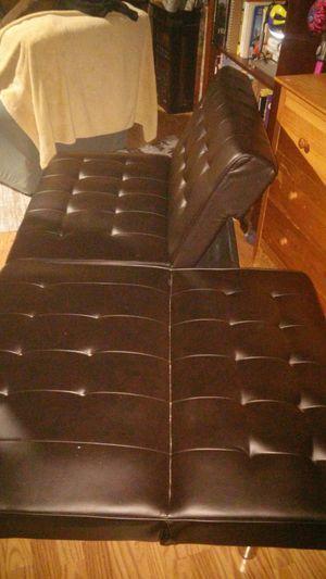 Futon Faux Leather Futon for Sale in University Park, IL