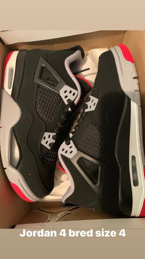 Jordan 4 bred size 4 for Sale in The Bronx, NY