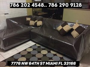 Dark brown sectional couch never used for Sale in Medley, FL