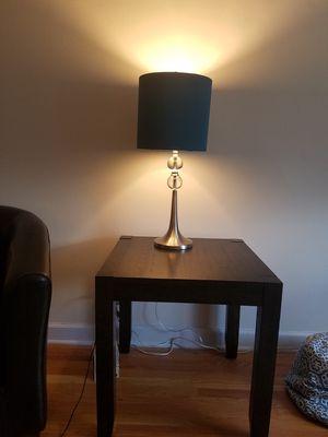 2 blue, silver lamps for Sale in Addison, IL