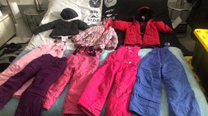 6kids snow bibs and jackets boots hats gloves for Sale in Saint Johns, FL
