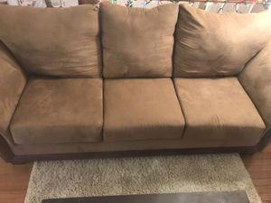 Couch, three cushion. Brown suede. for Sale in Lansdowne, VA