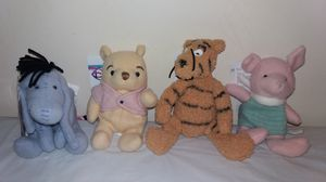 New with Tags Disney Classic Winnie the Pooh and friends complete set Beanie Babies for Sale in Downers Grove, IL