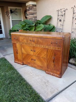 """VINTAGE """"JOHN FURNITURE CO"""" ART DECO WATERFALL BUFFET / SIDEBOARD / ENTRYWAY PIECE / CREDENZA / TV STAND / DRESSER (CIRCA 1940'S) for Sale in Corona, CA"""