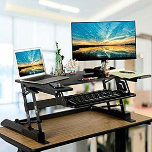 Smart & Art Height Adjustable Sit to Stand Computer Desk Standing Desk Riser Workstation Standing Table Converter for Sale in Phoenix, AZ