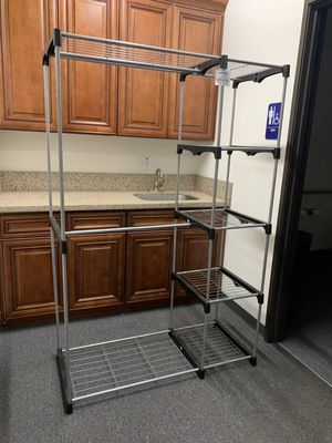 New in box wardrobe clothes shoes closet organizer hanging stand rack storage organizer 46x20x70 inches for Sale in Whittier, CA