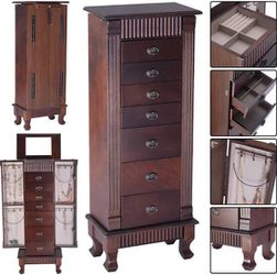 Wooden Jewelry Cabinet Storage Organizer with 7 Drawers Retail 169.95 My price 130.00 for Sale in Fontana,  CA