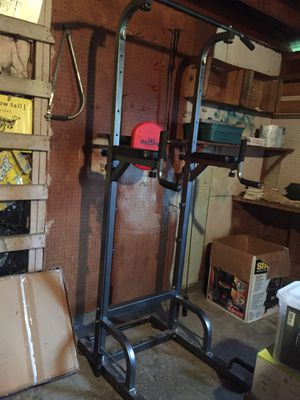 RELIFE REBUILD YOUR LIFE Power Tower Workout Dip Station for Home Gym Strength Training Fitness for Sale in SKOK, WA