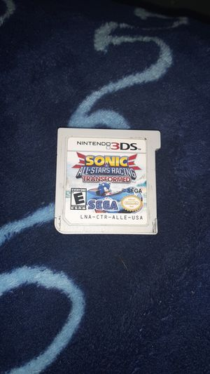 Sonic all star racing transformed 3ds game for Sale in Auburn, WA