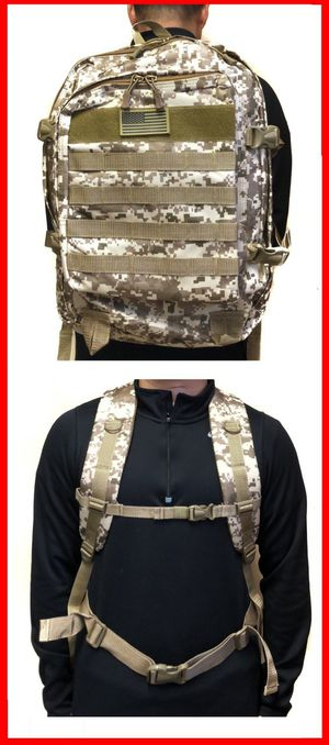 Brand NEW! Tan Digital Large Molle Backpack For Traveling/Work/Outdoors/Hiking/Biking/Camping/Hunting/Sports/Gym/Fishing/Summer/Surfing/Skateboard for Sale in Carson, CA