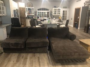 Love seat and chase lounge sectional - w years old obo for Sale in Phoenix, AZ